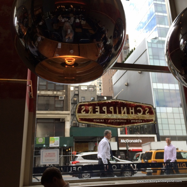 interior view out from Schnippers Quality Kitchen in NYC's Flatiron District
