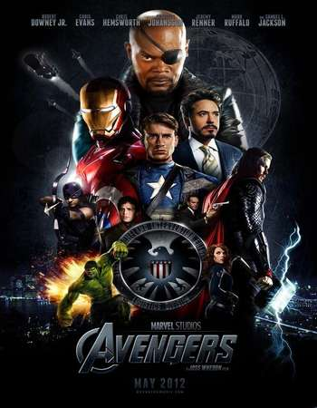 Poster Of The Avengers 2012 Hindi Dual Audio 600MB BRRip 720p ESubs HEVC Free Download Watch Online downloadhub.in