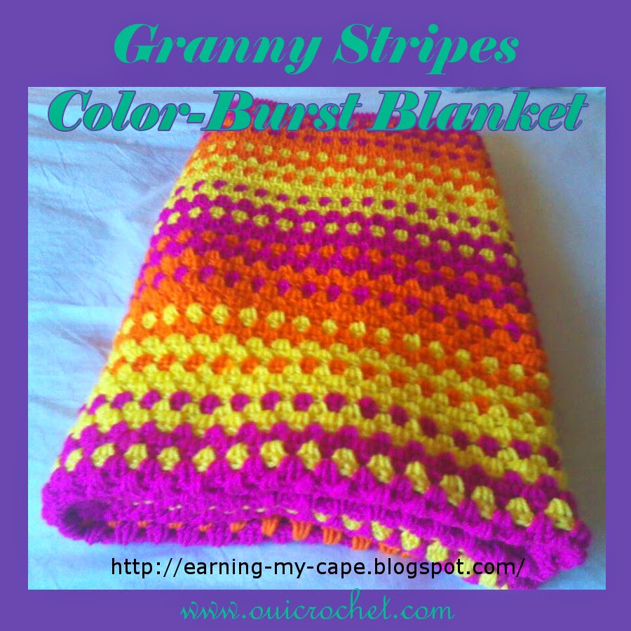 Crochet, granny stripes, Free Crochet Pattern, Granny Stripes Blanket, Crochet granny stripes color-burst blanket,