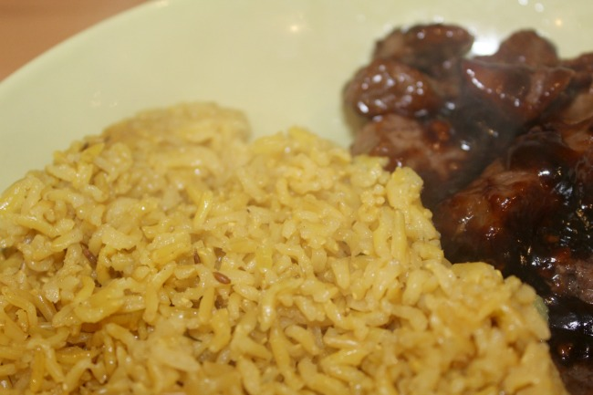 Beef Teriyaki with Tilda wholegrain Pilau rice recipe. Nourish ME: www.nourishmeblog.co.uk