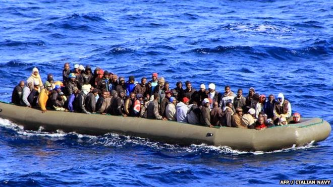 African migrants to Italy