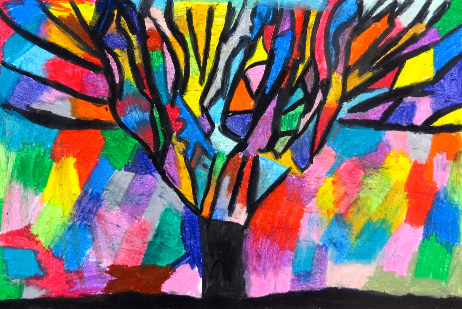 The Creative License Oil Pastel Trees