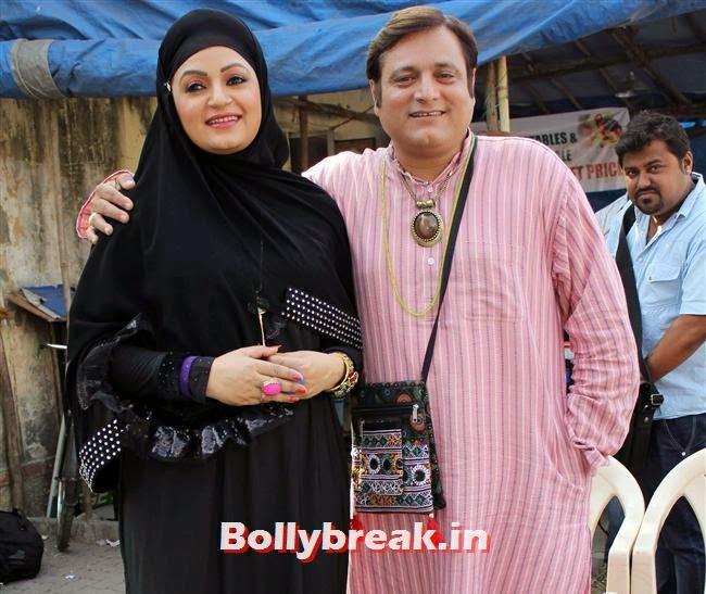 Upasana Singh and Manoj Joshi, Pics of Priti Sharma in Hume Toh Loot Liya Film Shoot