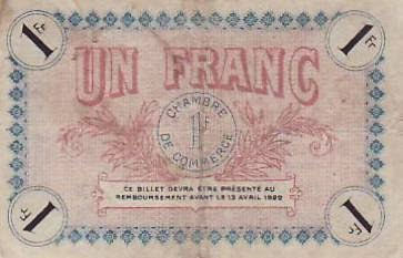 Chambre de commerce and local emergency banknotes from for Chambre de commerce angouleme