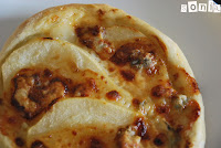 Pizza de pera y gorgonzola