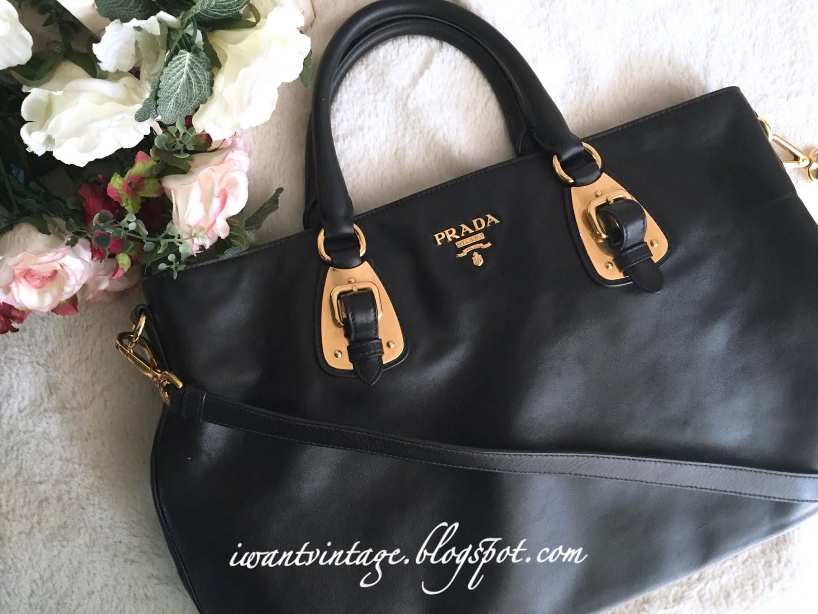 f24108520fe4 I Want Vintage | Vintage Designer Handbags: Prada BN1902 Soft Calf ...