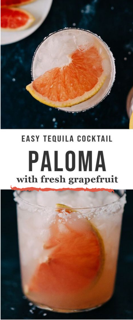 PALOMA COCKTAIL WITH FRESH SQUEEZED GRAPEFRUIT JUICE #drink