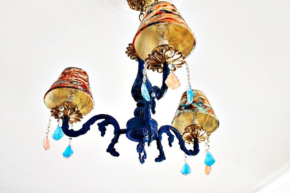 Blue chandellier