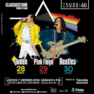 TRIBUTO a Queen, Pink Floyd y The Beatles por Classicstone