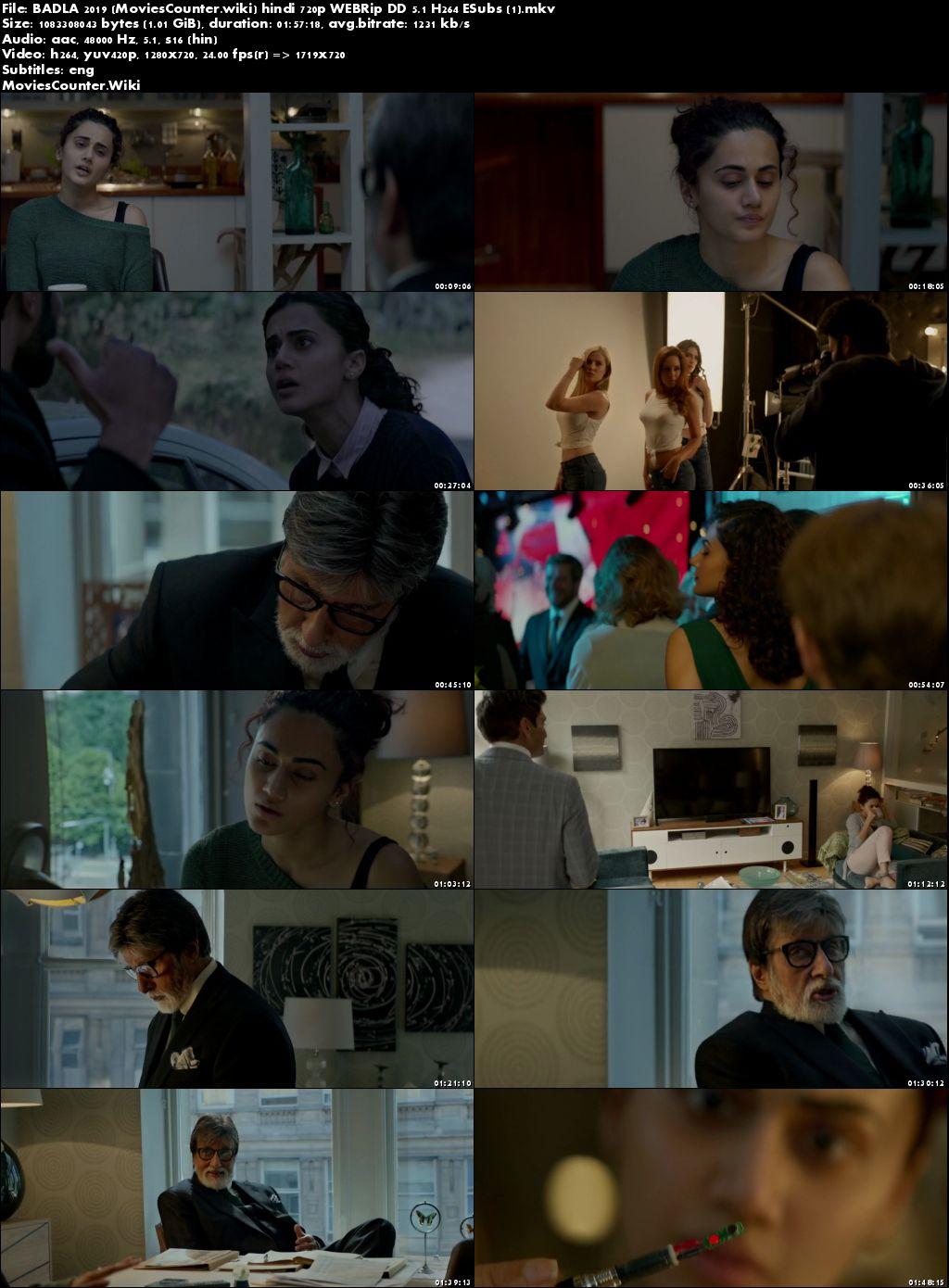 Screen Shots Badla 2019 Hindi HD 720p