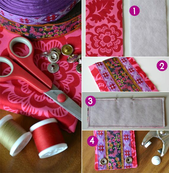 DIY Woven Ribbon Cuff Tutorial