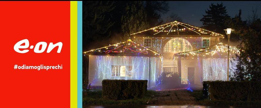 Canzone E.On Energia pubblicità con casa illuminata e luci di natale - Musica spot Novembre 2016