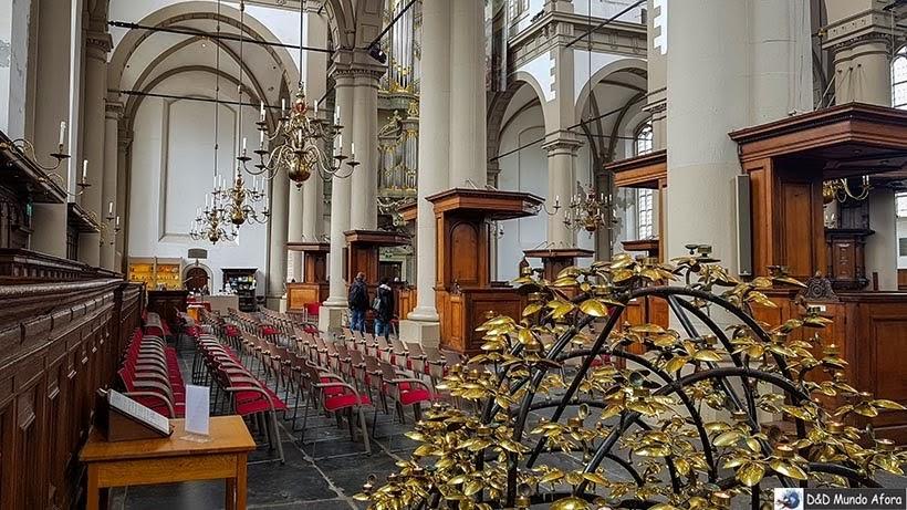 Interior da Igreja Westerkerk - O que fazer em Amsterdam: 28 atrativos