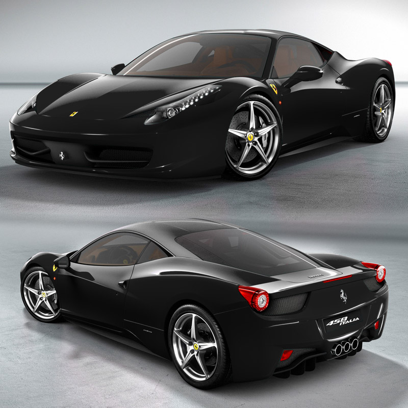 Ferrari 458: Wallpaper Zh: Ferrari 458 Black