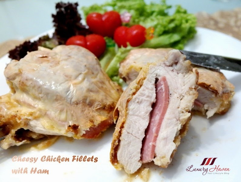 succulent baked cheesy chicken fillet with ham recipes