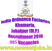 ordnace+factory+jabalpur+recruitment+2016