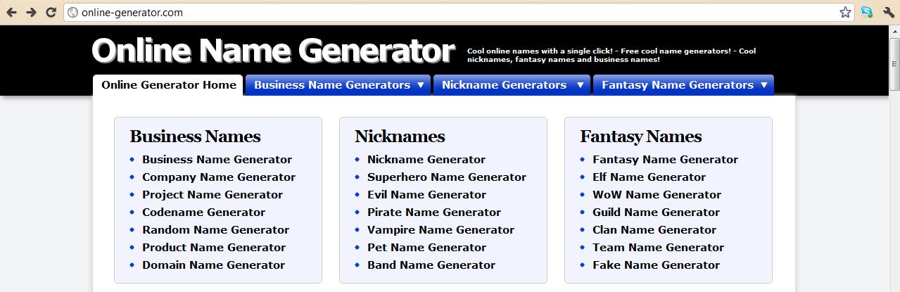 Summary -> A Random Name Generator Superhero Nation