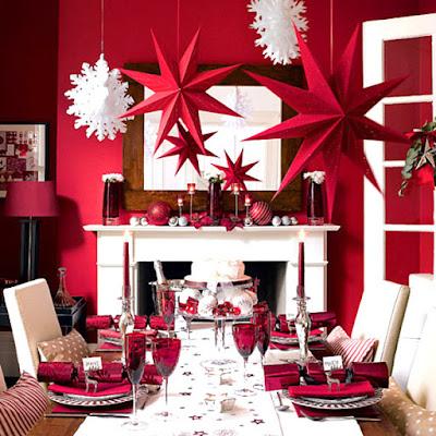 decoracion de mesa navideña