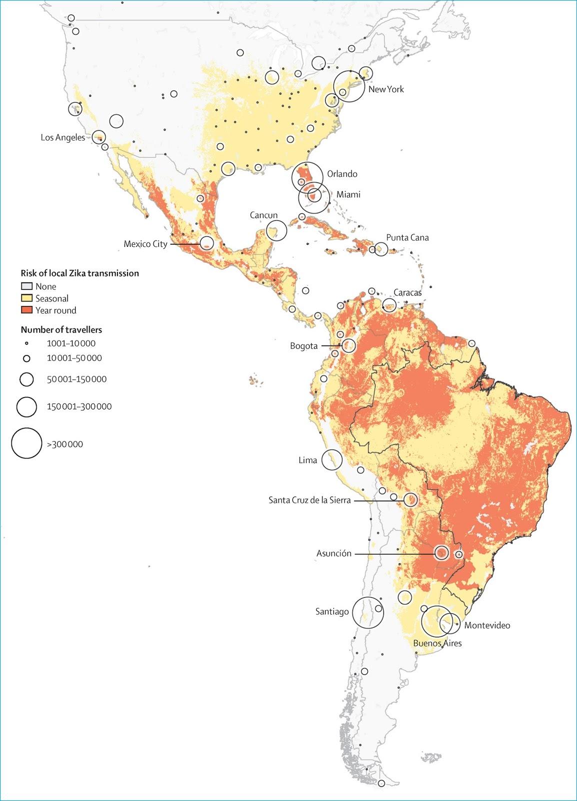 Risk of local Zika transmission
