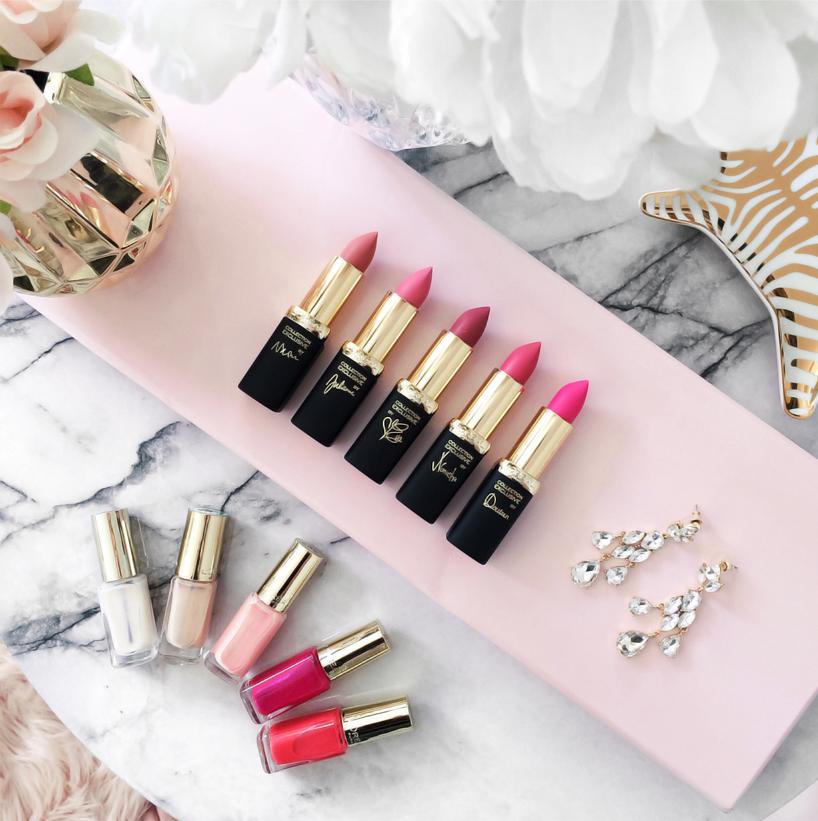 Loreal Paris La Vie En Rose Collection lipsticks nail polish
