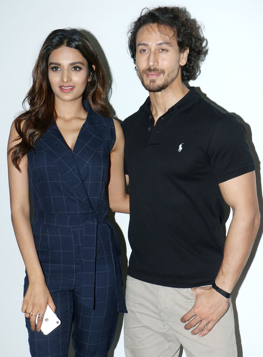 Tiger Shroff and Nidhhi Agerwal Promote Movie Munna Michael In Mumbai