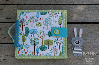 Bunny day quiet book, ready to ship baby gift
