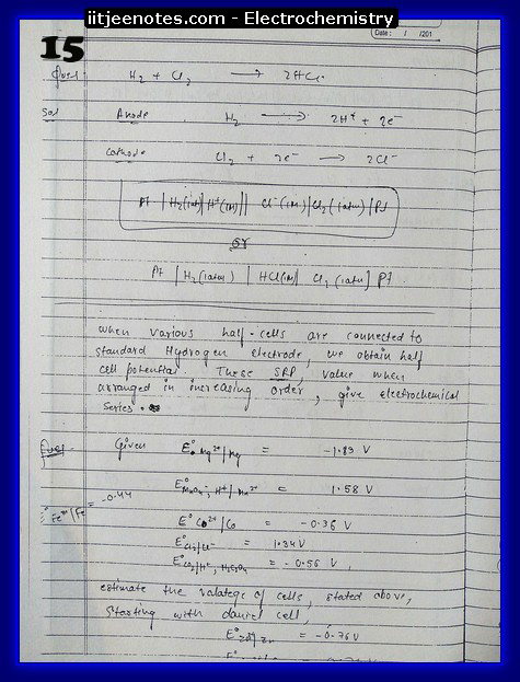 Electrochemistry 15