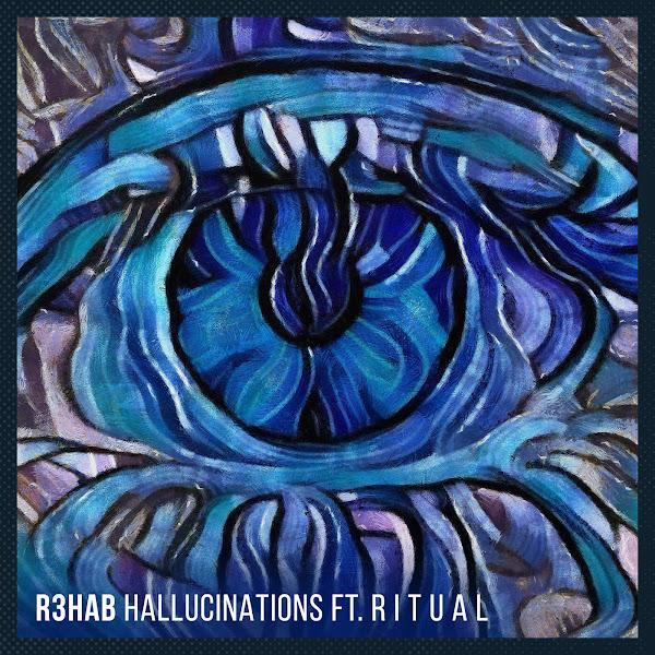 R3hab - Hallucinations (feat. R I T U A L) - Single Cover