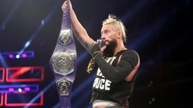 Enzo Amore reaparece com o Cruiserweight Championship