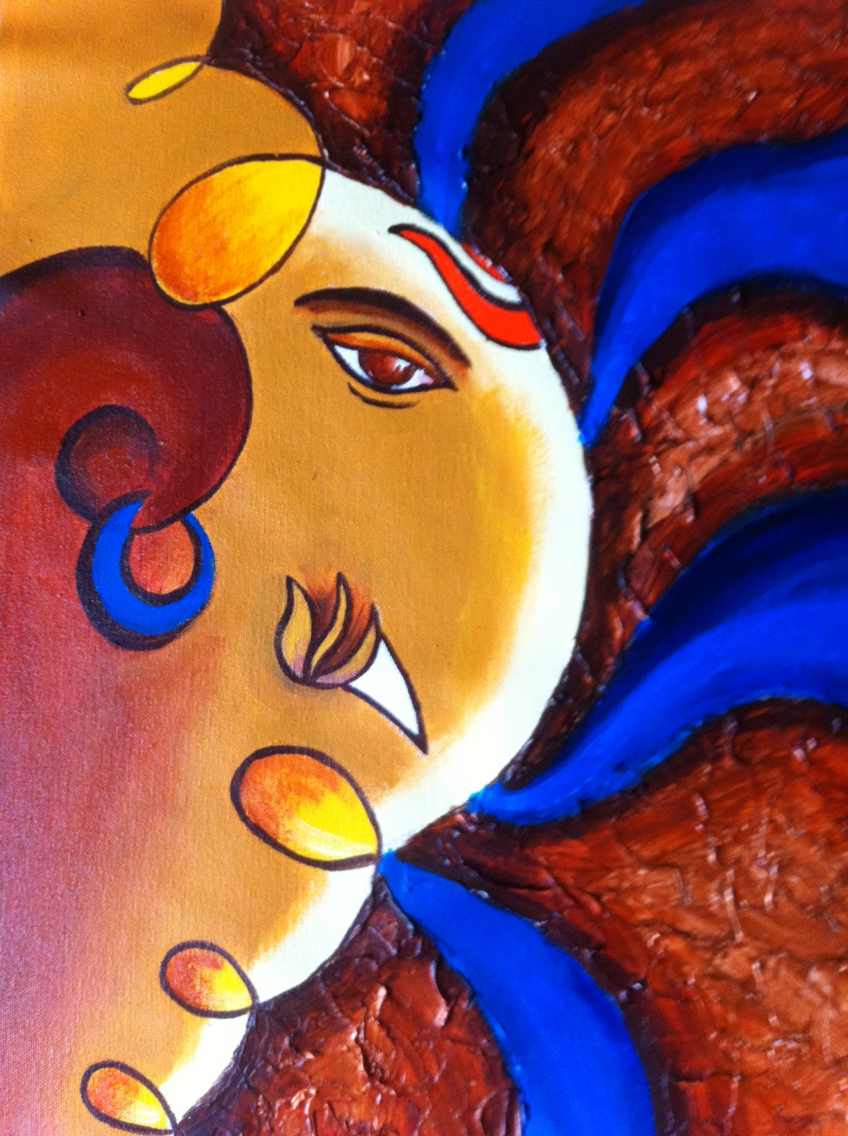 Abstract Ganesh Paintings By Manisha Vedpathak