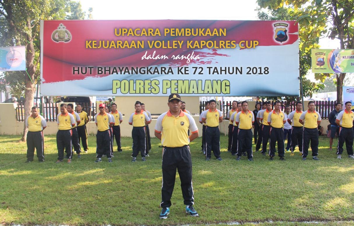Kejuaraan Bola Voli Kapolres Cup Pemalang Dibuka Oleh