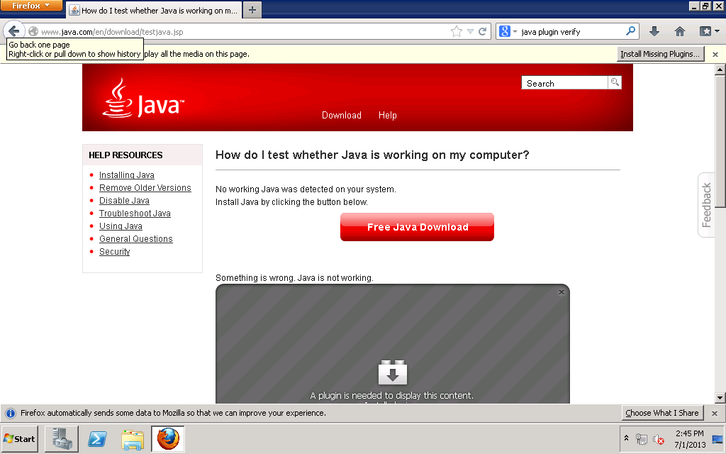 Highway to Concord: How to Install Java 7 Plugin for Firefox on