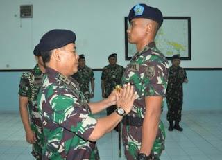KOMANDAN KODIKLATAL PIMPIN PEMBUKAAN DIKMAPA PK TNI AL XXIV