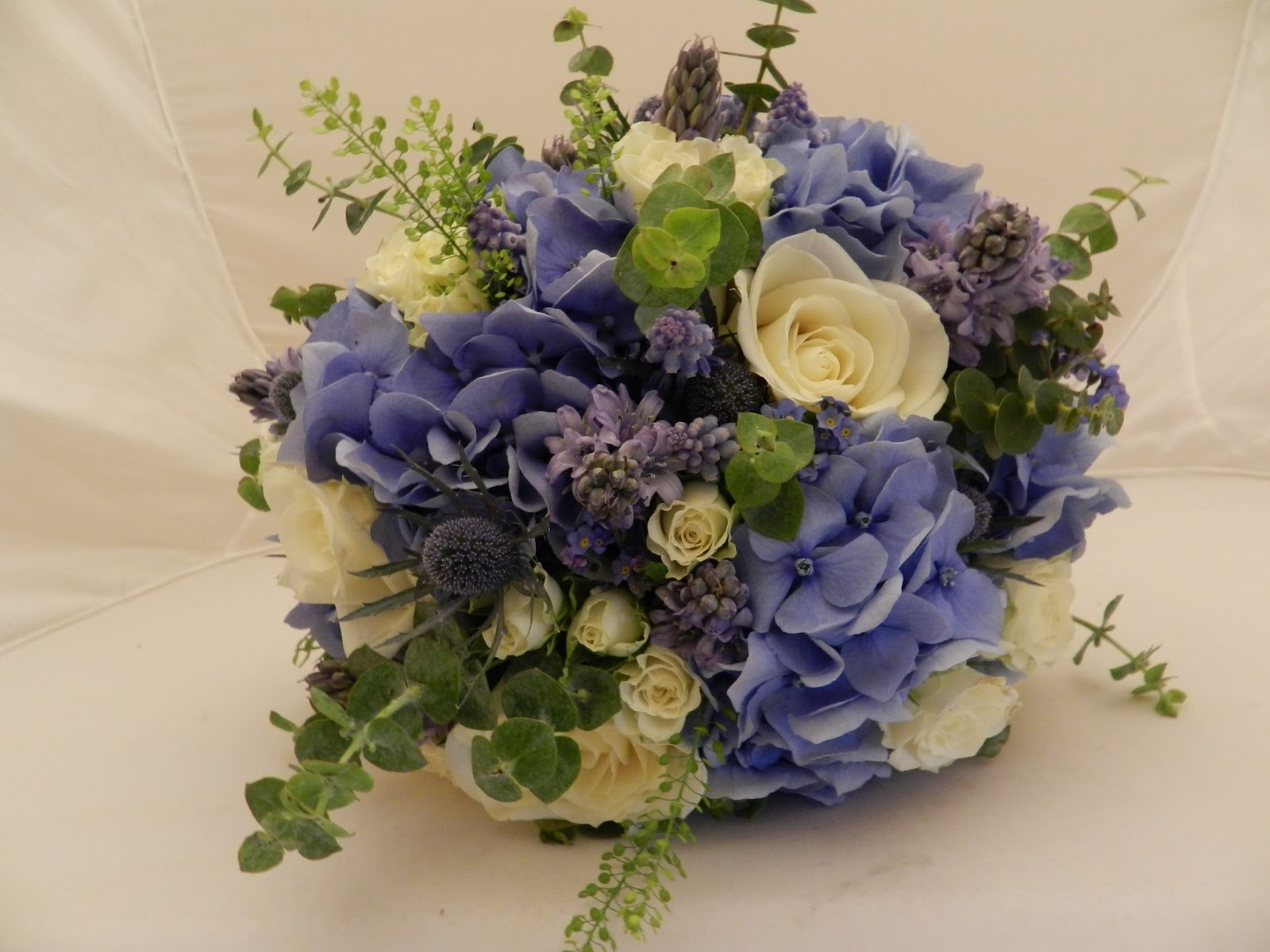 Sandra\'s Flower Studio: Blue and Ivory wedding at Woodhall Spa Manor