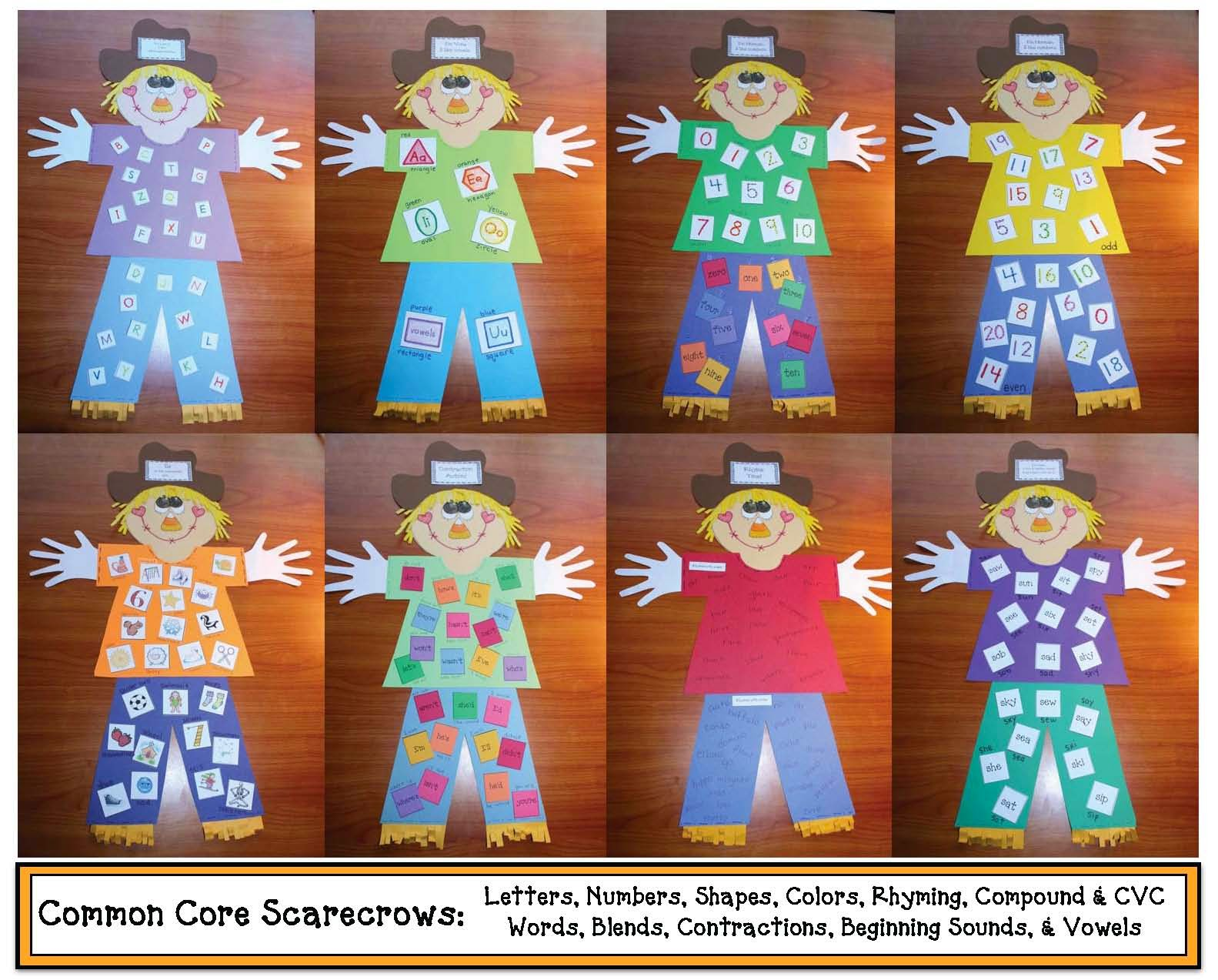 Classroom Freebies Common Core Scarecrows