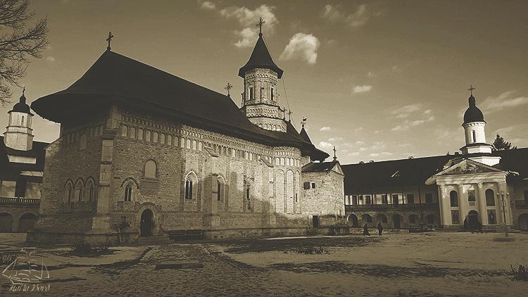 manastirea neamt alb negru