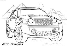 Gambar Mewarnai Berbagai Jenis Mobil Jeep Gambar Mewarnai