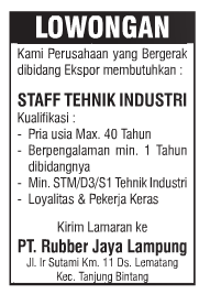 PT. Rubber Jaya Lampung