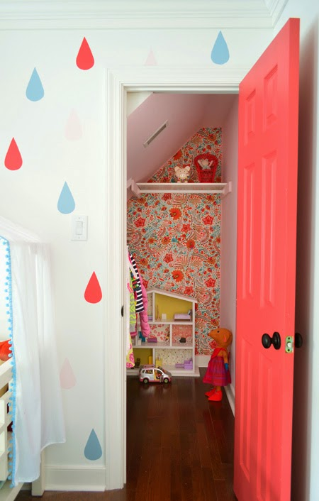 bright and fun little girl room