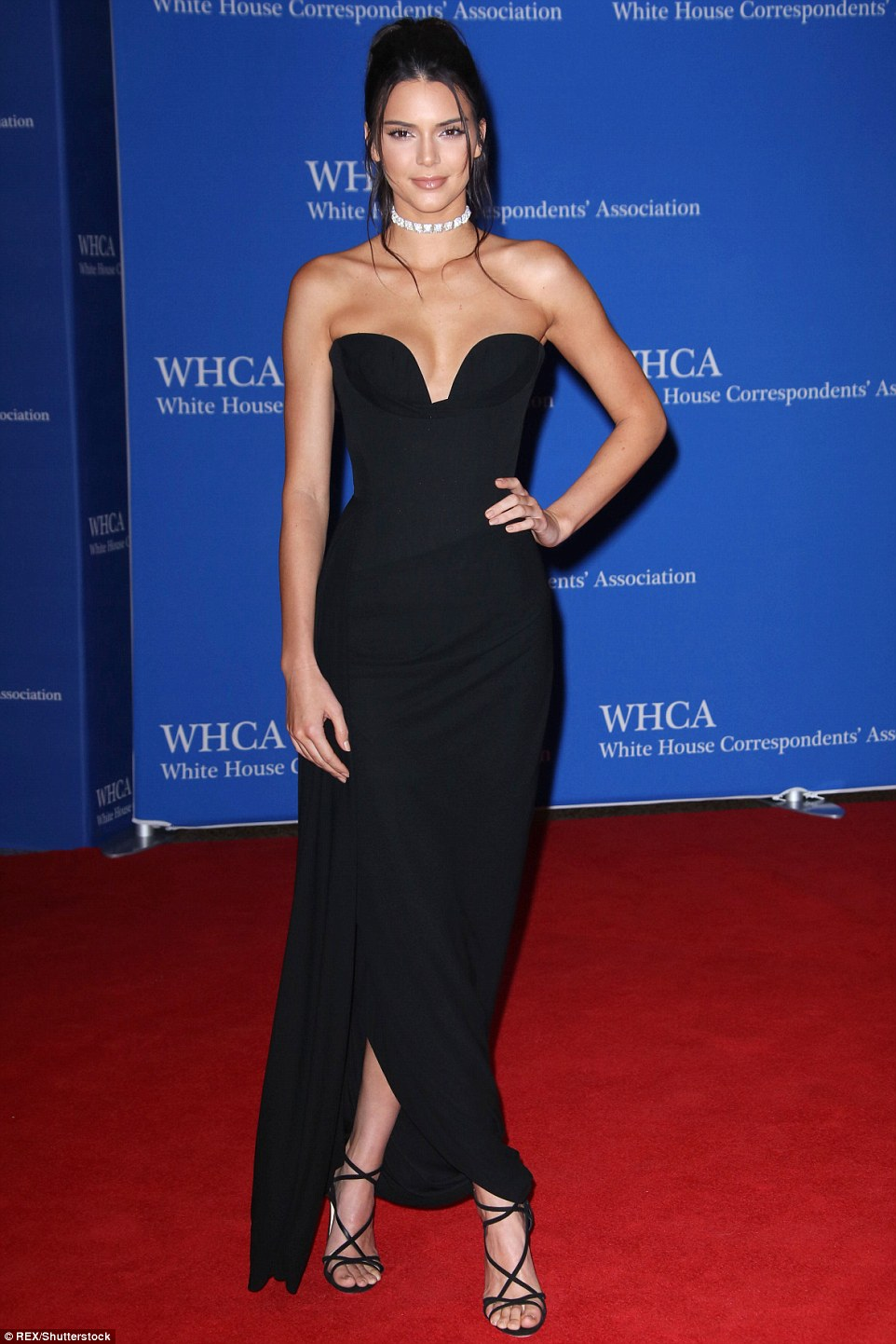 Kendall Jenner wears strapless gown for the White House Correspondents' Dinner