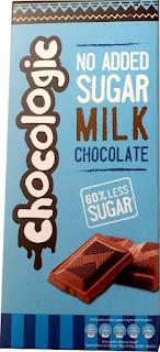 Chocologic no added sugar milk chocolate