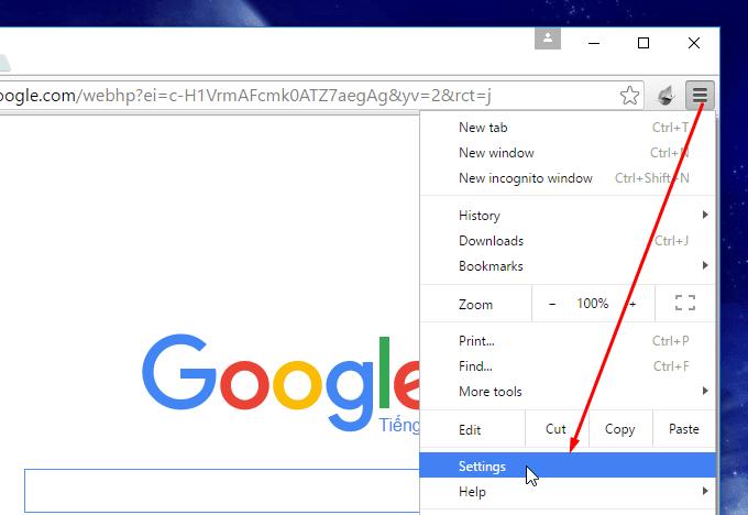 Cài tiếng Việt cho Chrome