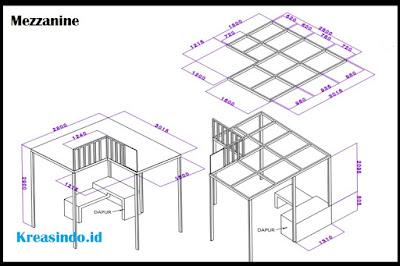 Mezzanine Pemasangan di Rumah Bpk Kahfi di Cikunir Jakamulya Bekasi Selatan
