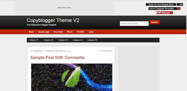 Copyblogger Blogspot theme