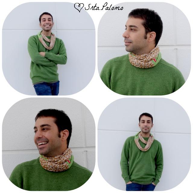Victor Flores, arquitecto y emprendedor, con snood by Srta.Palomo