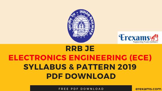 RRB JE Electronics Engineering (ECE) Syllabus & Pattern 2019 Pdf Download