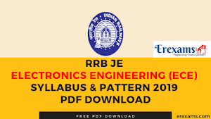 RRB JE Electronics Engineering (ECE) Syllabus & Pattern 2019 Pdf Download