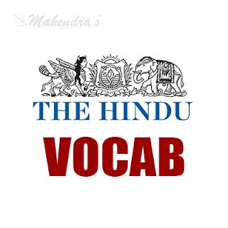 The Hindu Vocabulary For IBPS Clerk Mains | 12 - 01 - 18