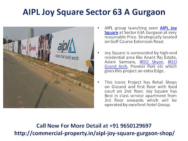 AIPL Joy Square Golf Course Extension Road Gurgaon || 9650129697