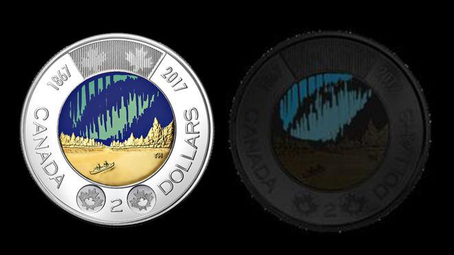 Primeira moeda que brilha no escuro do mundo entra em circulação no Canadá